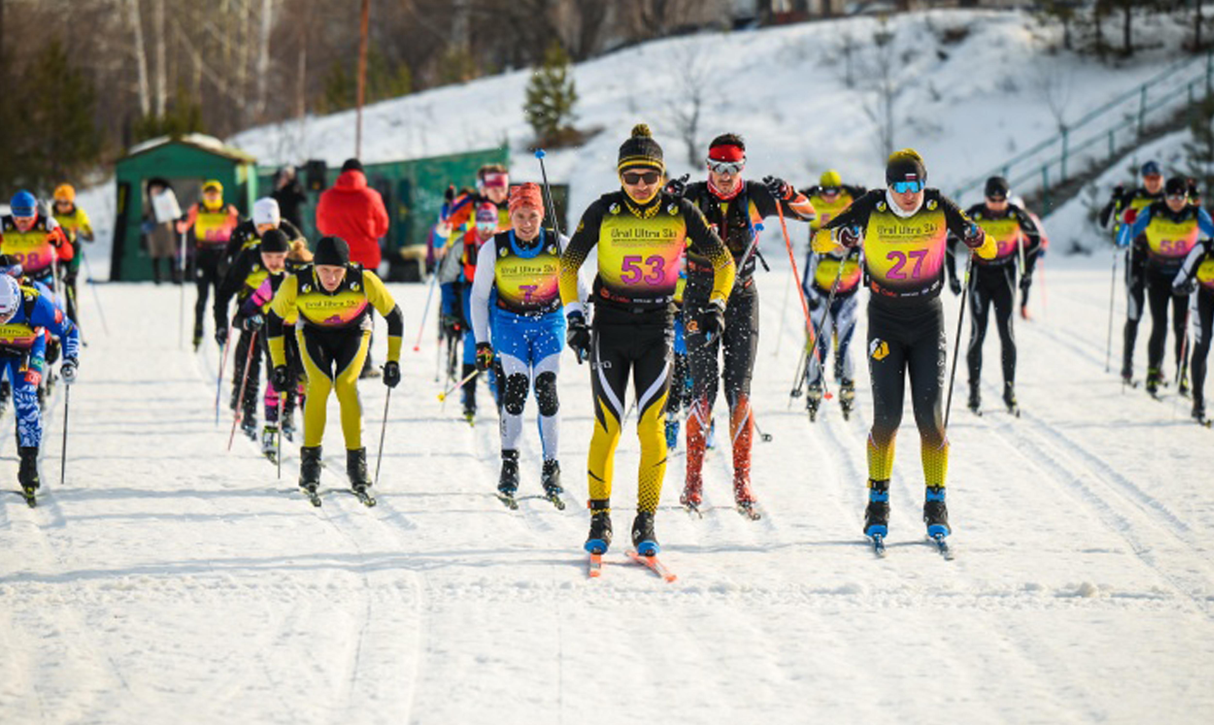 Дистанция 100 км: на Урале прошел ультрамарафон лыжников