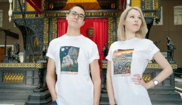 Музей наивного искусства выпустил мерч: футболки с изображением известных картин